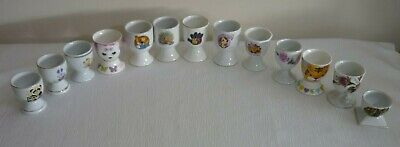 13 x EGG CUP - MIXED SET Porcelain EASTER GIFT or COLLECTION PIECES
