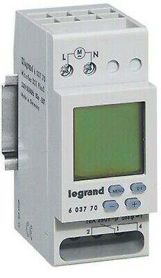 Legrand DIGITAL TIME SWITCH LEG603770 16A 230V 1-Channel, Weekly Programmable