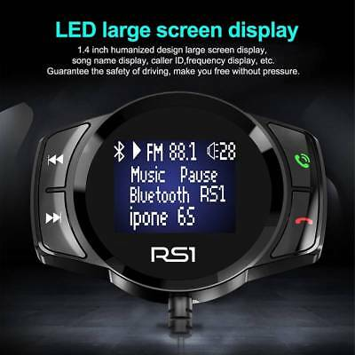 Wireless Bluetooth LCD Car Radio MP3 FM Transmitter USB Disk Charger Hands-free
