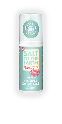 Salt of the Earth Pure Aura Natural Deodorant Spray (100ml) - Melon & Cucumber