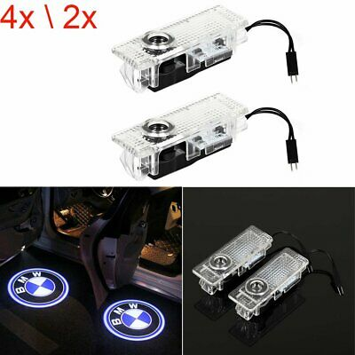 4X 2X BMW LED Courtesy Puddle Laser Projector Logo Shadow Car Door Lights Lamp