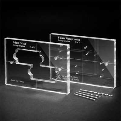 Routing Template Set - Precision Bass Pickup - Clear Acrylic/Perspex P.Bass