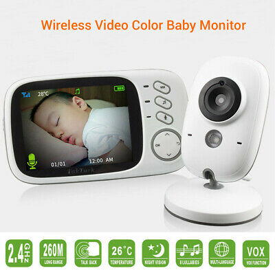 """3.2"""" Digital Baby Video Audio Wireless Monitor Night Vision Security Monitoring"""