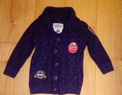 Boys Matalan Chunky Smart Navy Buttoned Cardigan Age 6 Years