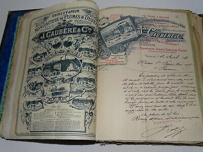 Manufacturier commande lettre courrier facture 1894 Old French paper invoice
