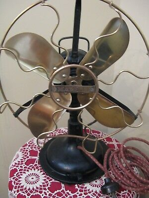 VINTAGE MARELLI FAN ANTIQUE THAT WORKS & OSCILATES 43cms TALL 34cms CAGE