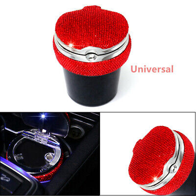 Fashion Diamond Auto Home LED Light Ashtray Car Travel Cigarette Ash Holder Cup