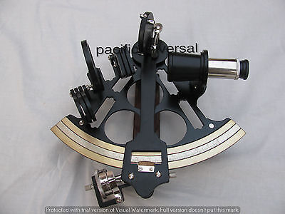 "Nautical Sextant 8"" Heavy Brass Maritime Black Coating Powder SHIP WORKING ITEM."