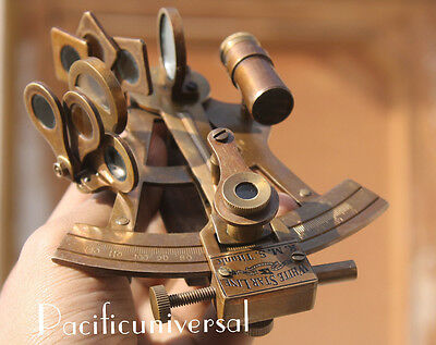 "Handmade Solid Brass Sextant 4"" Nautical Working Instrument Ship Astrolabe Gift."