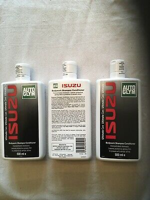 THREE 500ml GENUINE AUTOGLYM BODYWORK SHAMPOO CONDITIONER ISUZU DEALER STOCK