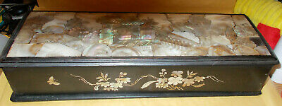 Very Nice Heavily Inlaid Mother Of Pearl Summer Palace Chinese Glove Box
