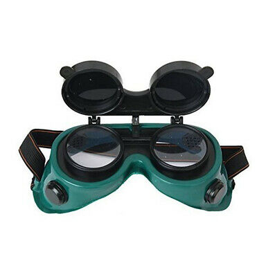 Flip-Up Front Welding Goggles Lens Safety Glasses Brazing & Metal Cutting Green