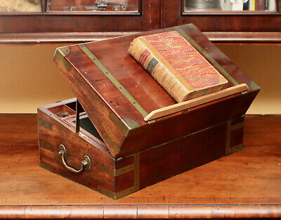 A Fine c19th Antique Georgian Writing Slope, Secret Compartment, I H Farthing
