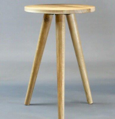 Wooden stool on tapered legs, oak small table, side table small coffee table