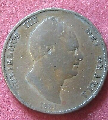 1831 William IV Copper Penny  Circulated.