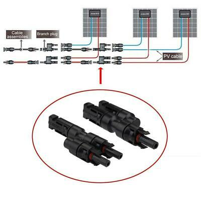 1-10 Pair MC4 T Type 3 Branch Male/Female Solar Panel Cable Connector Waterproof