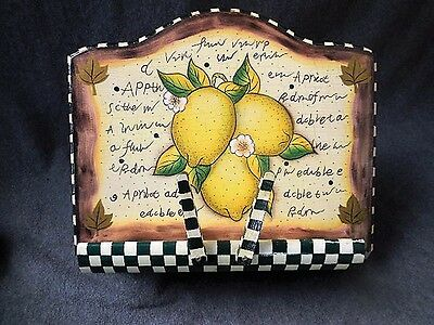 Cookbook Holder Stand  Handpainted Lemons Country French