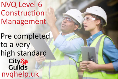 Completed NVQ Diploma L6 Construction Site Management Coursework Help & Answers