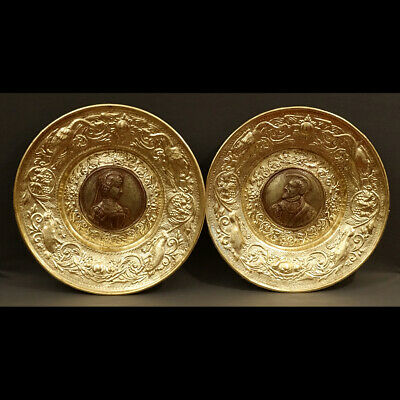 PAIRE D'IMPORTANTS PLATS STYLE RENAISSANCE XIXè - PAIR OF GRAND DISHES XIXth