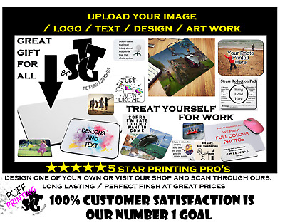 Personalised Custom Your Picture/ logo Computer Mousemat Mouse Pad Rubber...