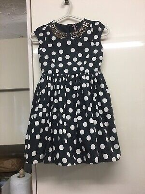 Girls Grey Spotted Embellished Summer Party Dress From Next Age 7 Yrs