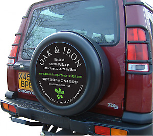 Personalised Land Rover Defender Spare Wheel Cover Any Picture Image