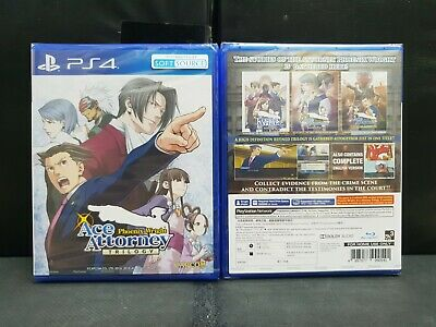 (ASIA ENGLISH VERSION) PS4 Phoenix Wright Ace Attorney Trilogy (Brand New)