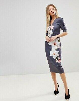 a52ff5c9 NEW TED BAKER BISSLEE Chatsworth Bloom Bodycon Dress - $98.99   PicClick