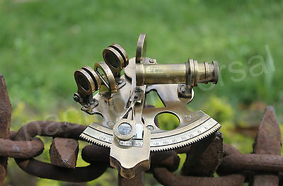 "3"" Vintage Maritime Solid Brass Sextant Ships Astrolabe Reproduction Gift Item."