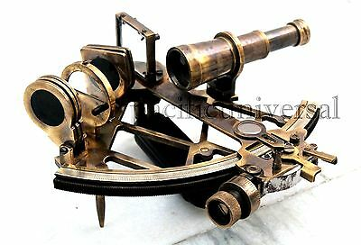 Vintage Ship Brass Sextant Astrolabe Maritime Nautical Navy Marine Sextant Decor