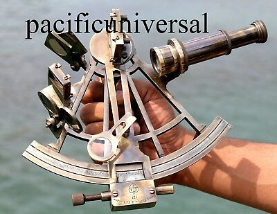 Antique Nautical Brass Sextant Ships Instrument Astrolabe Use for Practice Gift