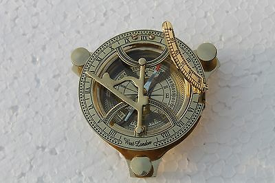 "Vintage Antique Style 2 1//4/"" Screw Top Brass Heavy Maritime Navigational Compass"