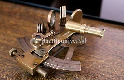 Brass Marine Sextant Vintage Brass Navigational Replica Antique Nautical Gift