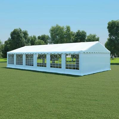 Outdoor Party Tent Garden Gazebo Patio Canopy Shelter Weatherproof White 6x12m