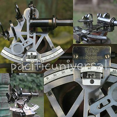 """4"""" Antique Solid Brass Nautical Sextant Heavy Brass Ship Working Instrumwnt Item"""