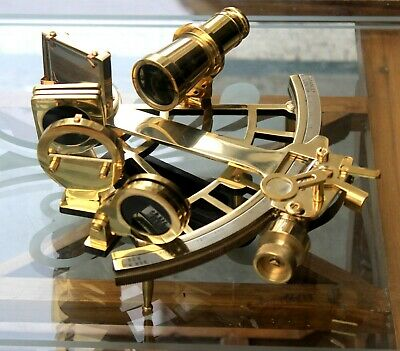 "Vintage Maritime Solid Brass Sextant 9"" Ship Working Navigation Best Gift Item."
