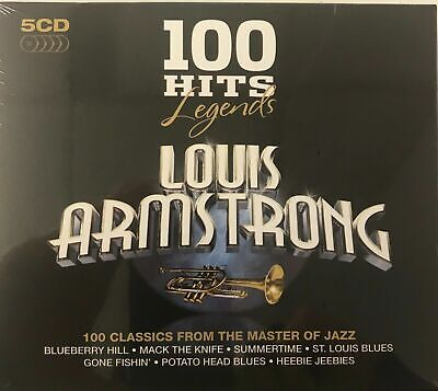 Louis Armstrong 100 Hits - Legends Series (5CD) New Sealed Free UKP&P