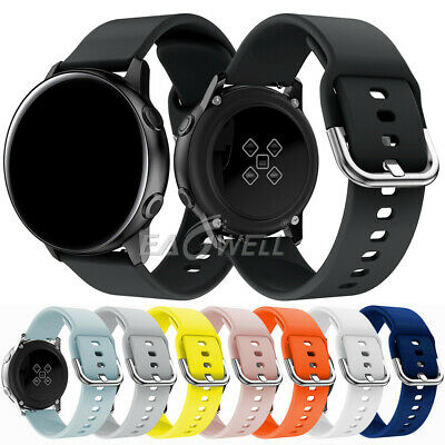 Universal 20mm Silicone Wrist Band Sport Watch Strap Replacement Quick Release