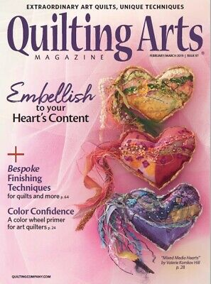 Quilting Arts Magazine February/March 2019