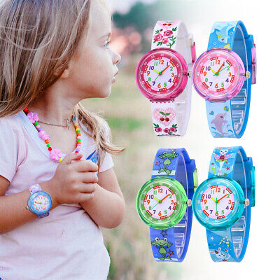 1PCS Cartoon Slap Snap On Silicone Wrist Watch Boys Girls Children Kids Wat