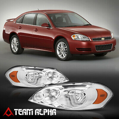 06-13 CHEVY IMPALA//14-15 LIMITED//07 MONTE CARLO CRYSTAL HEADLIGHTS CHROME//AMBER