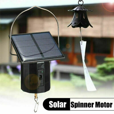 Solar Powered 1.5W Whirligig Wind Spinner Motor Outdoor Display Twirl Swirl x1