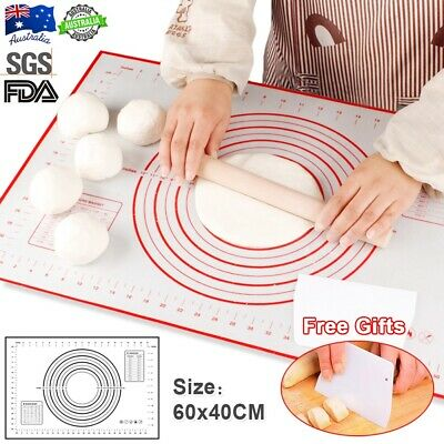 Large Non-Stick Silicone Dough Rolling Baking Mat Pastry Clay Pad Sheet-Liner