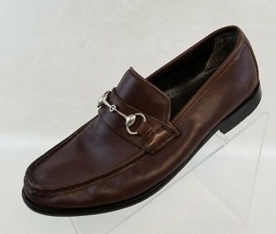 050f056eb27 Michael Shannon Loafers Moc Toe Horsebit Brown Leather Slip On Mens Shoes  Size 8