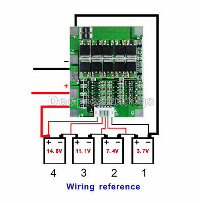 30A 14.8V 4S Li-ion Lithium 18650 Battery BMS PCB Protection Board Cell Balance