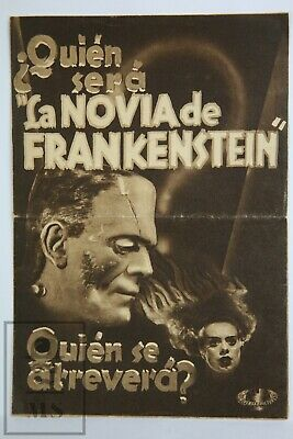 1935 The Bride of Frankenstein Large Movie Advertisement Leaflet - Boris Karloff