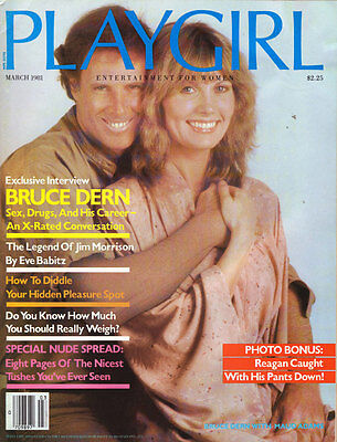 PLAYGIRL March 1981 X rated BRUCE DERN Jim Morrison THE DOORS Jean Robert LeCocq