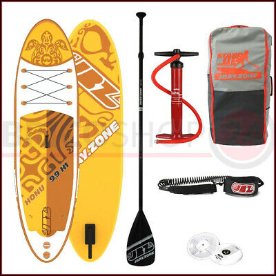 Tavola da Sup Board Surf Gonfiabile Stand Up Paddle Pompa Remo Pagaia Kayak Mare