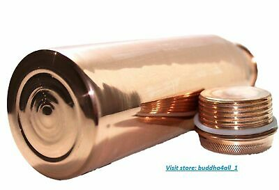 Pure Copper Water Bottle For Ayurveda Health Benefit Joint Free Leak Proof