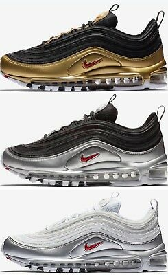 new concept 011f1 a8ae7 Nike Air Max 97 Qs NUOVE - Silver White   Black Gold - Sneakers -dal
